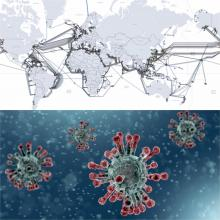 CoronaVirus/Undersea cable map